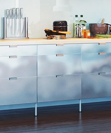 modern kitchen interior. 3d design concept